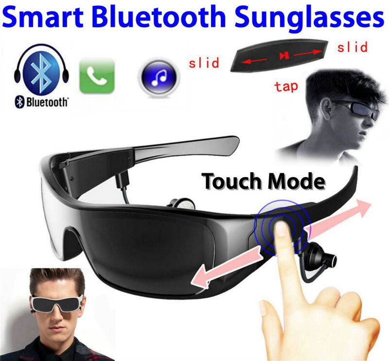 2016 Smart Wearable Bluetooth Sunglasses Outdoor Sports Glasses Stereo Earphone