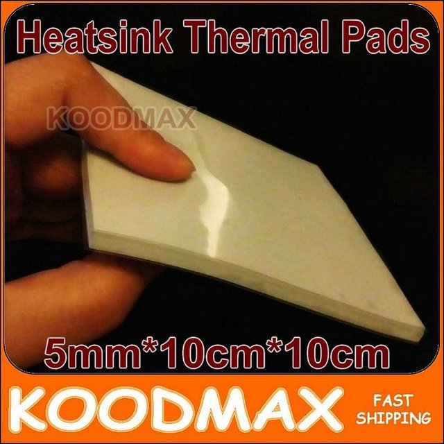 5mm*100mm*100mm Laptop GPU South Bridge IC Heatsink Cooling Silicone Thermal Conductive Pad  KOODMAX