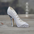 Free Shipping Ring Display Holder High heel Shoe Ring Display Stand Jewelry Displays Multi Colors Optional