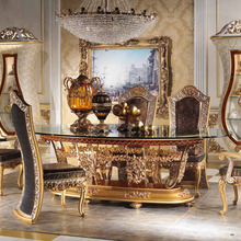 European Style Luxury Imperial Wood Carved Decorative Dining Room Set(China (Mainland))