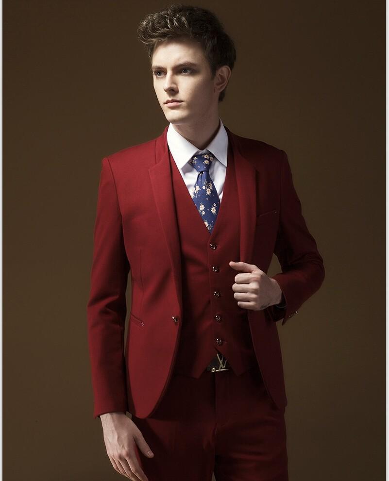 red suit mens - Smoking Mariage Hugo Boss