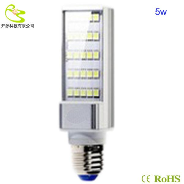 Free shipping 5w horizon down light  450lm High quality 85-265v  5050 led corn bulb lamp e27 220v