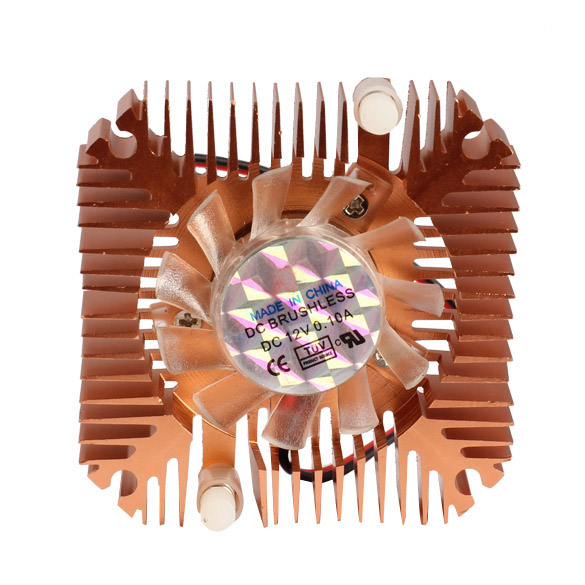 55mm Cooler Cooling Fan for CPU VGA Video Card Bronze Mini Professional E2shopping QJY99(China (Mainland))