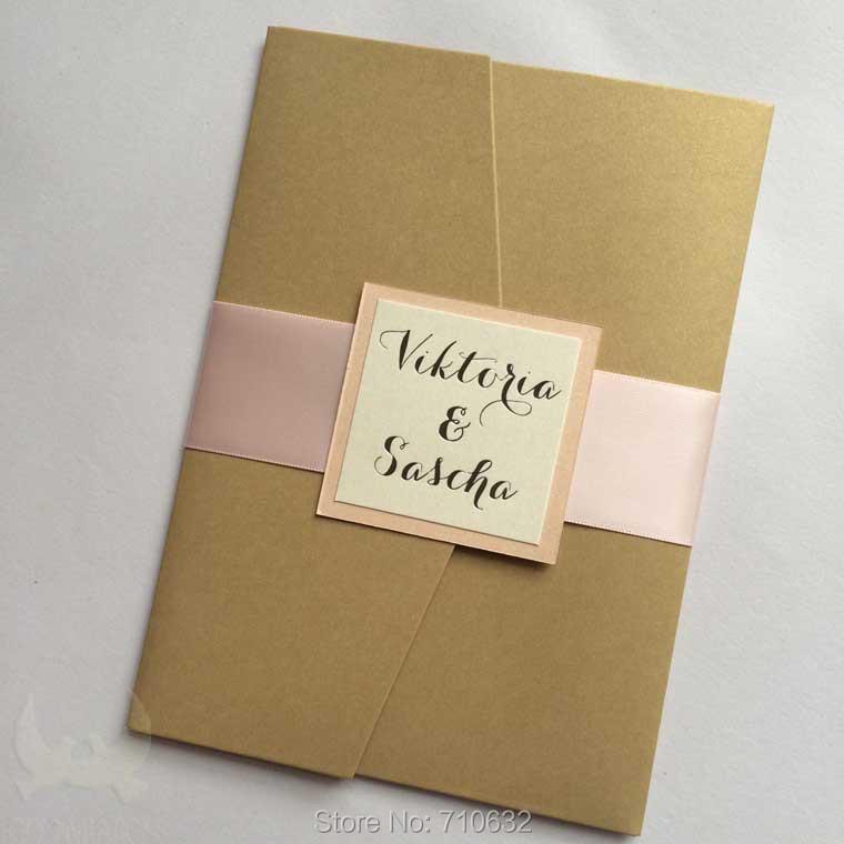 Rustic Pocket Invitations Vertical Pocketfold Wedding ...