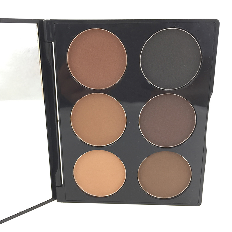Hot Sale Professional 6 Color Pressed Face Powder Palette Nude Makeup Contour Cosmetic foundation(China (Mainland))