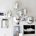 5 pcs 18 inch Party Inflatable Balls Foil Balloons Silver Wedding Decoration Happy Birthday Inflatable Toys