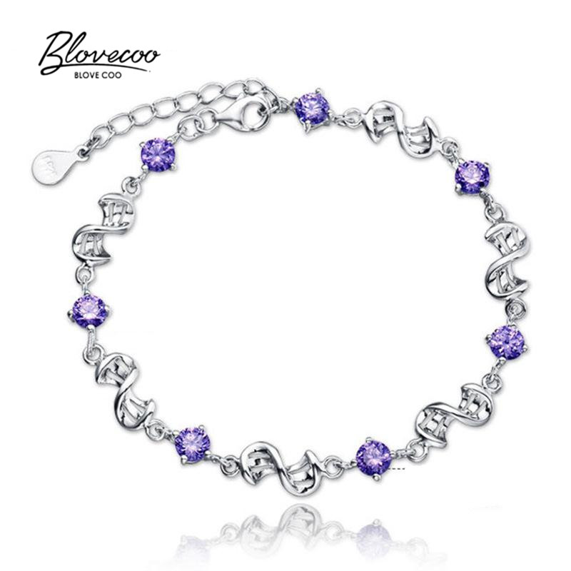 brand bracelets for women AAA CZ crystal silver heart charms europeu bangles 2016 Chain link girls wholesale(China (Mainland))