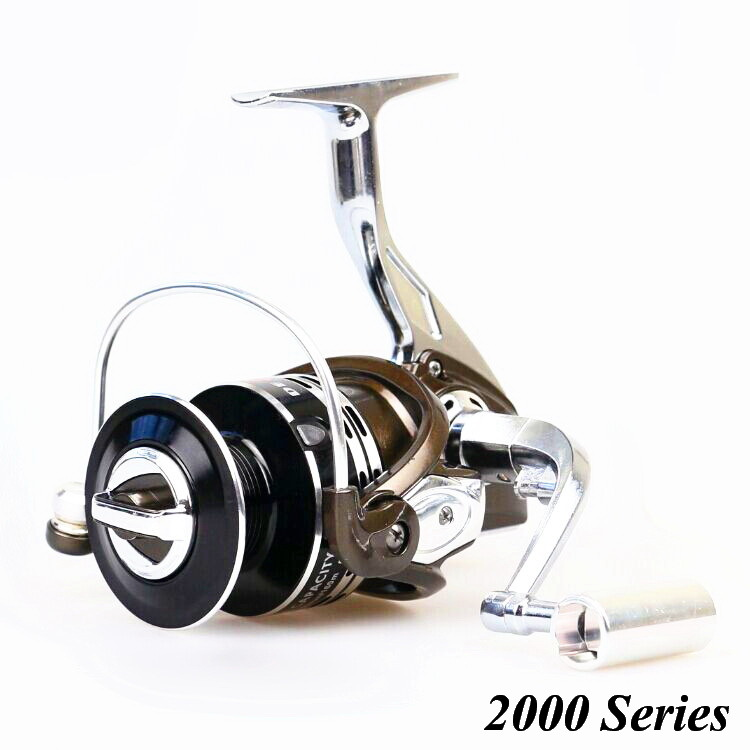 Metal Gapless Spinning Fishing Reel 2000 Series 11BB Spool Molinete Pesca Gear 5.2:1 For Shimano Fishing Free Shipping(China (Mainland))