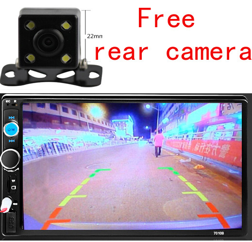 """7"""" Car Dvd Player +Free Camera 2din in dash WIDE SCREEN TFT Touch Screen head unit USB SD Bluetooth TV FM AM subwoof(China (Mainland))"""