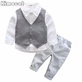 Gentleman boy clothes clothing australia 2017 spring child country clothing set boys vest formal suit brand