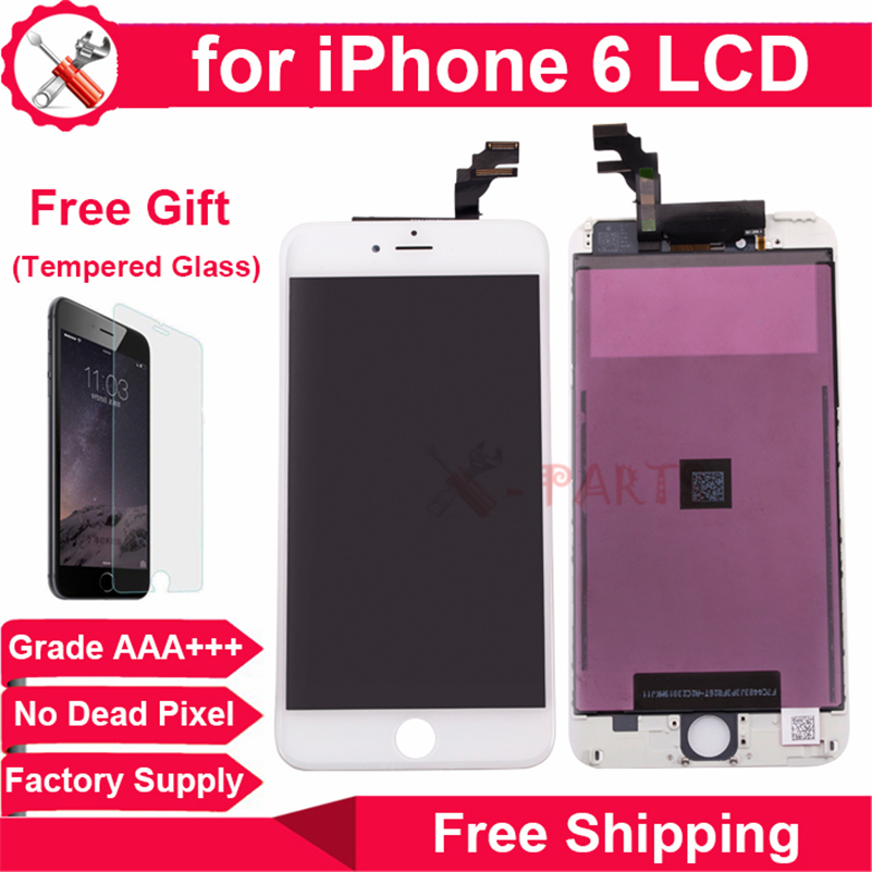 Fast Free DHL Shipping for iPhone 6 LCD Display with Touch Screen Digitizer Assembly in Grade AAA Quality(China (Mainland))