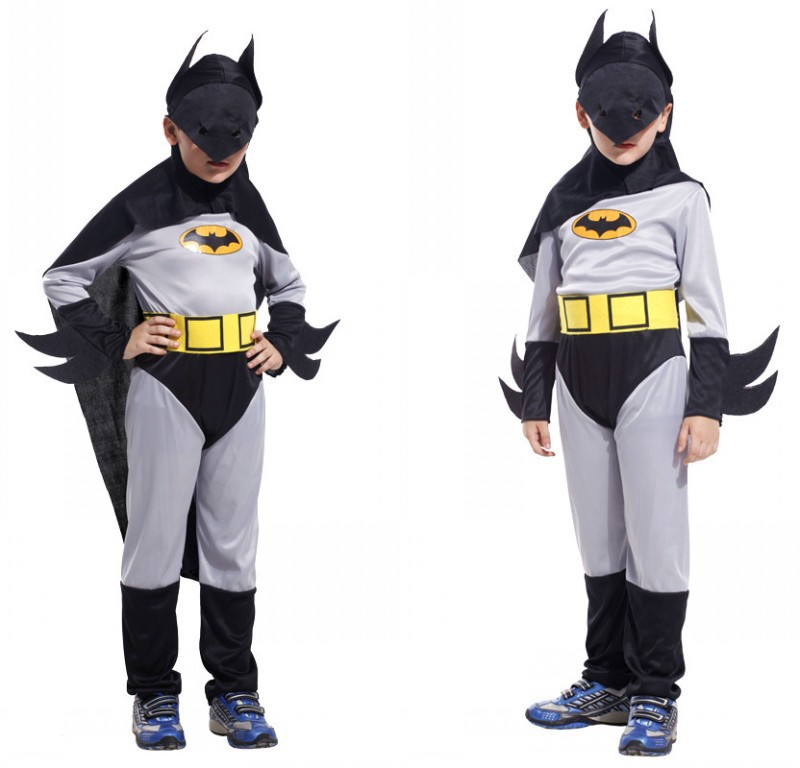 Retail 2014 New halloween batman costume kids Classic children costumes full clothing party cosplay cloth P045 - QSG International Trade Co., Ltd. store