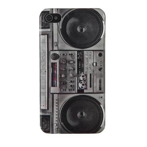 Eatonville Vintage Radio Cassette Tape Recorder Player Case For iPhone 4 4S(China (Mainland))