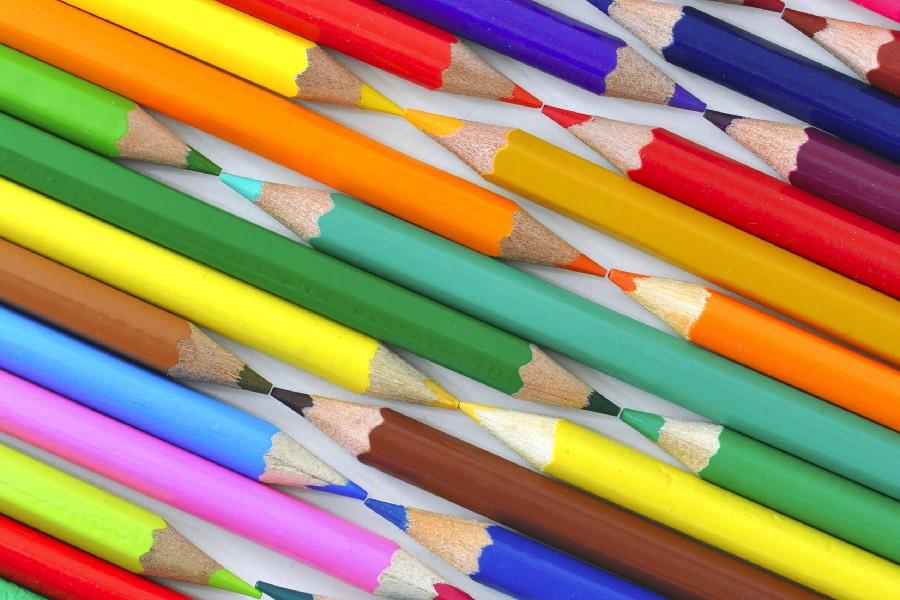Colored crayons pencils rod poster silk fabric cloth print wall sticker Wall Decor custom print(China (Mainland))