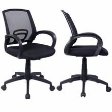 Sets of 2 Ergonomic Mesh Computer Office Chair Desk Task Midback Task Black New Free Shipping 2*CB10061(China (Mainland))