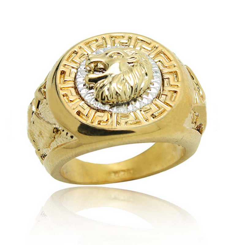 Vintage fashion lion head rings for men plated gold silver Vintage style fashion rings