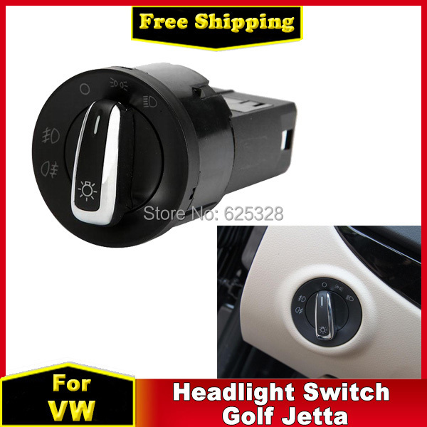 For VW Headlight Switch Control for VW Jetta Golf MK4 Beetle For Passat B5 B5.5 Bora Lupo Chrome Car Accessories Switch 12V(China (Mainland))