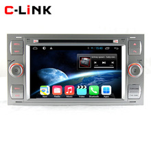 Silver Android 4.4 Dual Core 1.7GHz Car PC Video Player For Ford Focus C-MAX Fiesta Fusion Galaxy Kuga With Radio GPS BT WIFI 3G(China (Mainland))