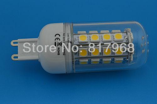 G9  led corn bulb with transparent cover 360 degree lighting table lamp 220V  Free shipping g9 mini led bulb lights for home
