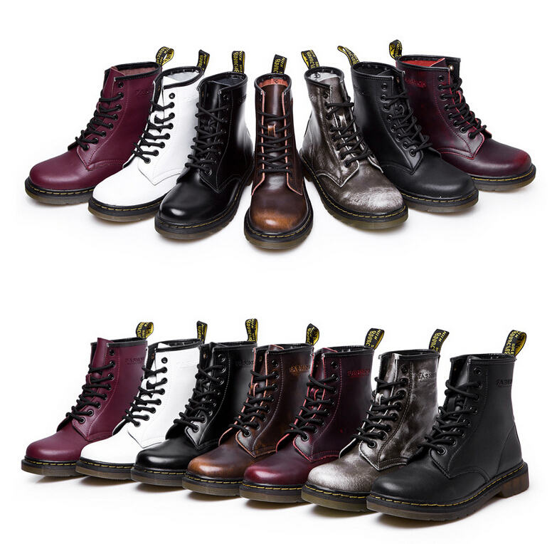2015 new high quality Dr. genuine leather martin boots martin shoes men&women famous marten brand designer motorcycle boots(China (Mainland))