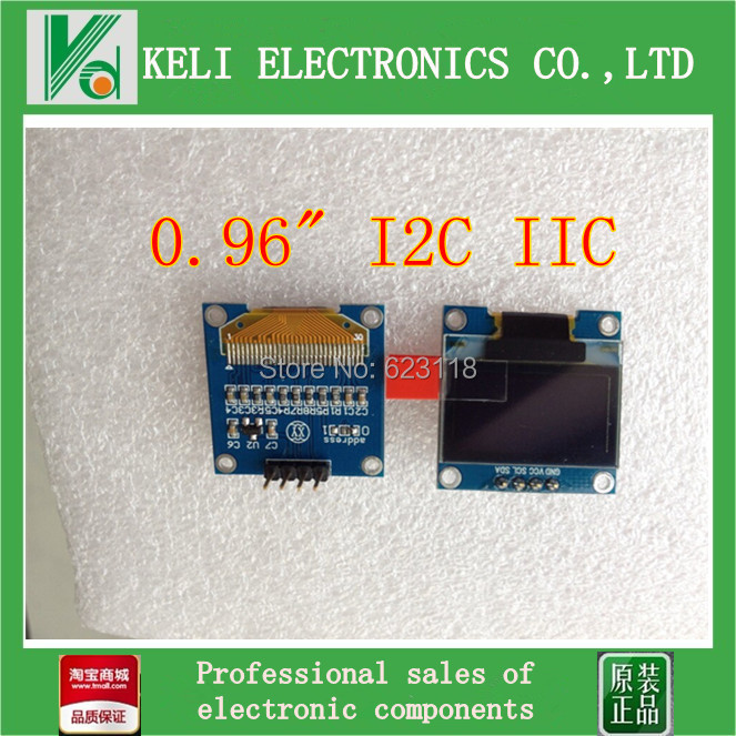 """Free shipping 1Pcs 128X64 OLED LCD LED Display Module For Arduino 0.96"""" I2C IIC SPI Serial new original(China (Mainland))"""