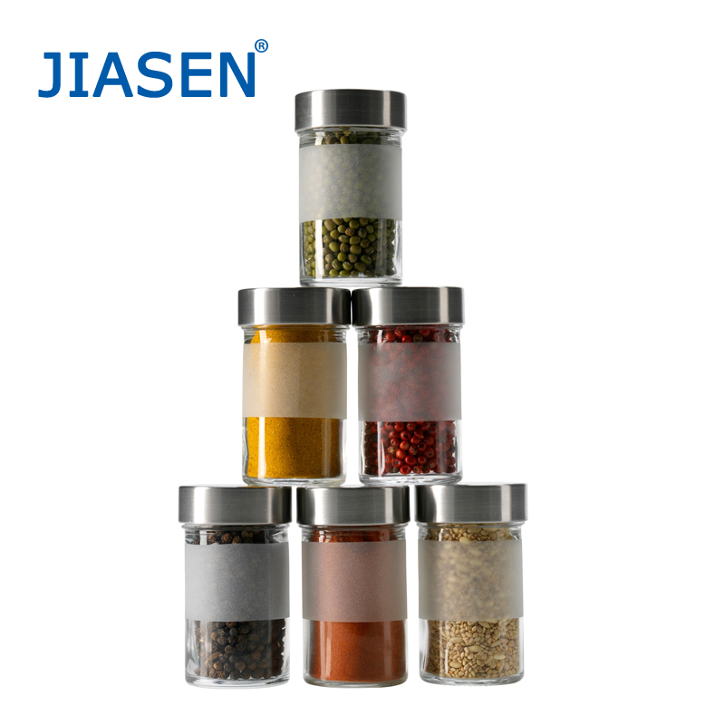 Enclosed stainless steel spice jar seasoning bottle glass spice jar seasoning box fashion two loaded(China (Mainland))