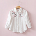 VORO BEVE 2017 New Baby Girl Blouses Embroidery Toddler Girls Tops Casual long Sleeve Girl Clothes