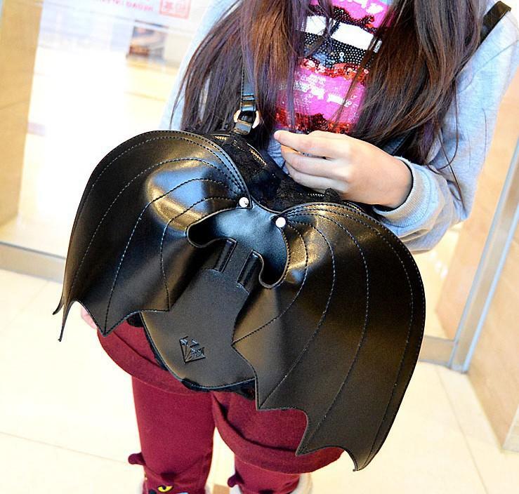 Bat Heart Backpack Backpack Bat Cute Cartoon