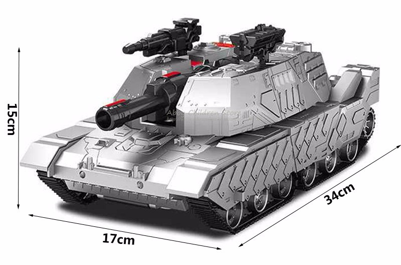 RC Tank RC Transformation Robot Toy Tank Remote Control Tank Electric Transform Car Dance Musical Model Cars Toys For Children