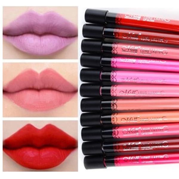 Free Shipping Hot sale Amazing 24 Colors Waterproof Liquid Makeup Lip Stick lasting Lipstick Lip Gloss Stick Wholesale 8009#(China (Mainland))