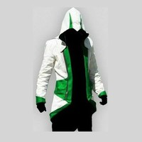Anime Assassin's Creed Men's Connor Green Cosplay Costume Men Coat Jacket For Halloween Free Shipping