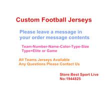 Custom All 32 Football Team Mens Women Youth Personalized Any Name and Number Elite Game embroidery stitched Football Jerseys(China (Mainland))