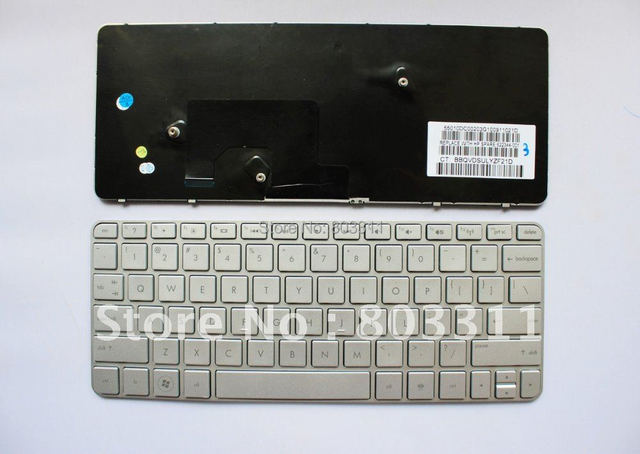 Free Shipping:Brand New Laptop keyboard ,Notebook keyboard for HP MINI210-2000 Service Silver colour US layout 622344-001