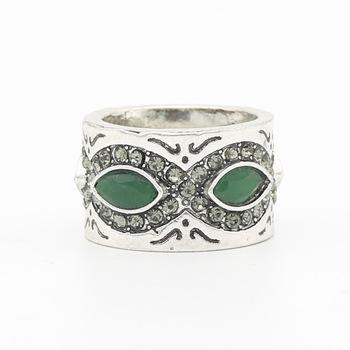 Vintage Women Mask Resin Flower Wedding Ring Antique Gold Color Finger Ring Jewelry Engagement Crown Ring Turkish Ethnic Bijoux