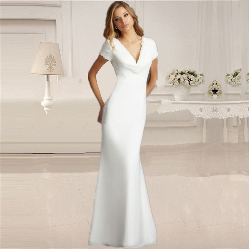product short beach wedding dresses