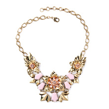 Noble Elegant Champagne Bouquet OL Style Designer Collar Necklace Factory Wholesale(China (Mainland))