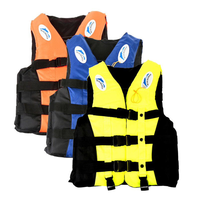 Lowest Price Sport Survival Adult Swimming Polyester Foam Life Jacket Vest Whistle Foam Prevention Flood M 3Color(China (Mainland))