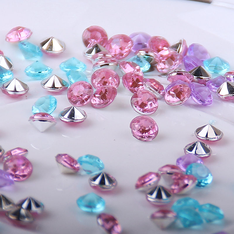1000PCS 4.5mm Wedding Decoration Crafts Diamond Confetti Table Scatters Clear Crystals Centerpiece E