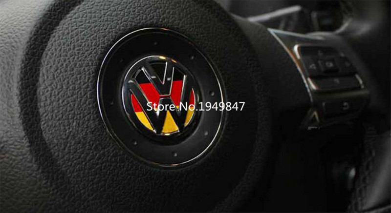 Germany Flag Emblem Steering Wheel Decal Sticker For Vw