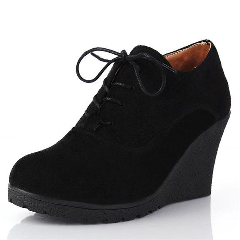 New 2016 Women Platform Wedges Fashion High Heels Lacing ...