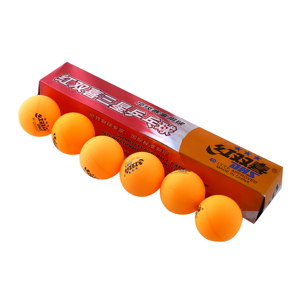High Quality 1 boxes 6 Pcs 3 stars DHS 40MM Olympic Table Tennis Orange Yellow Ping Pong Balls Durable For Competition(China (Mainland))