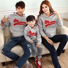 Family Set 3D Letters Sweatshirts Boys/Girls/Women/Men Sweatshirts Hoodies Mother Daughter Father & Son Clothes, 3 Colors, AR06(China (Mainland))