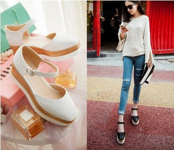 F9501 Japanese Style 2015 Size 35-39 Women Sweet Lolita Square Toe Princess Sandals Closed Toe Ankle Strap Sandals<br><br>Aliexpress