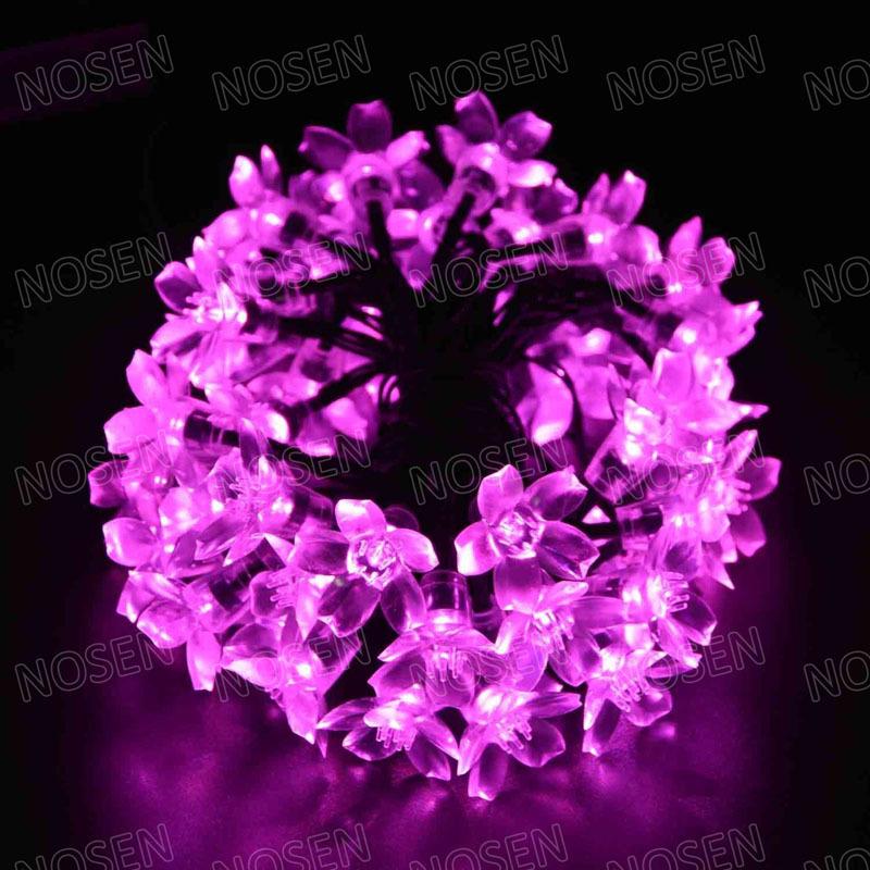 LED Cherry blossoms Linkable 16.4 Ft/5M Christmas Light String with 50leds Fairy Waterproof holiday Party Wedding New Year Decor(China (Mainland))