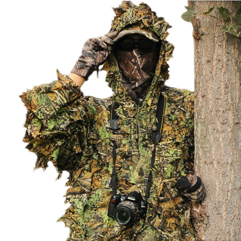 Hunting, birding camouflage clothing Leaf-like jungle camouflage bionic suit Camo 3D Leaf Yowie Ghillie