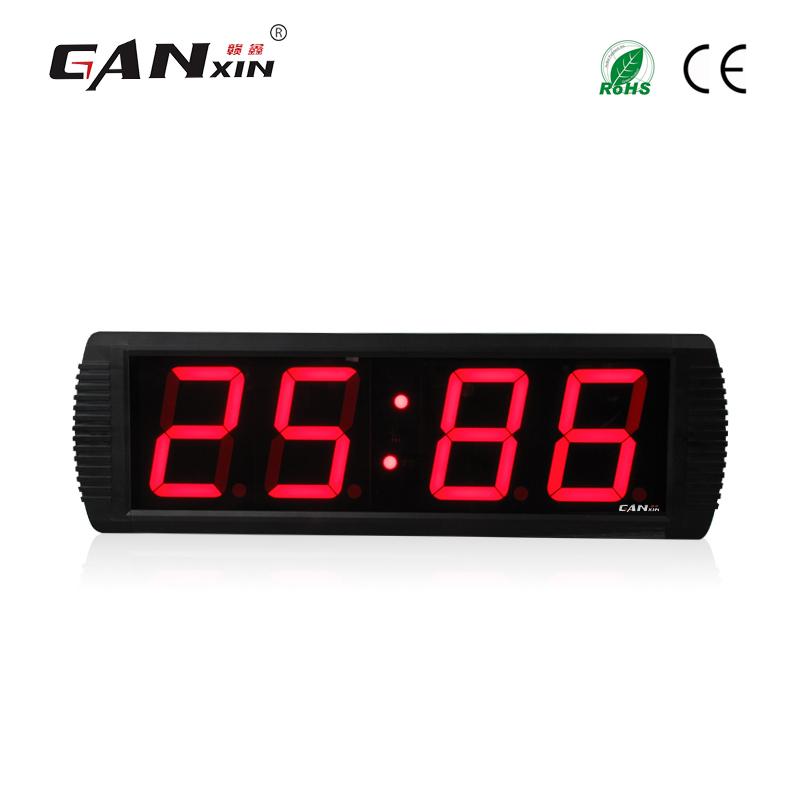 [Ganxin]4 Inches 4 Digits New Design Large Digital Led Alarm Clock Led Wall Clock(China (Mainland))