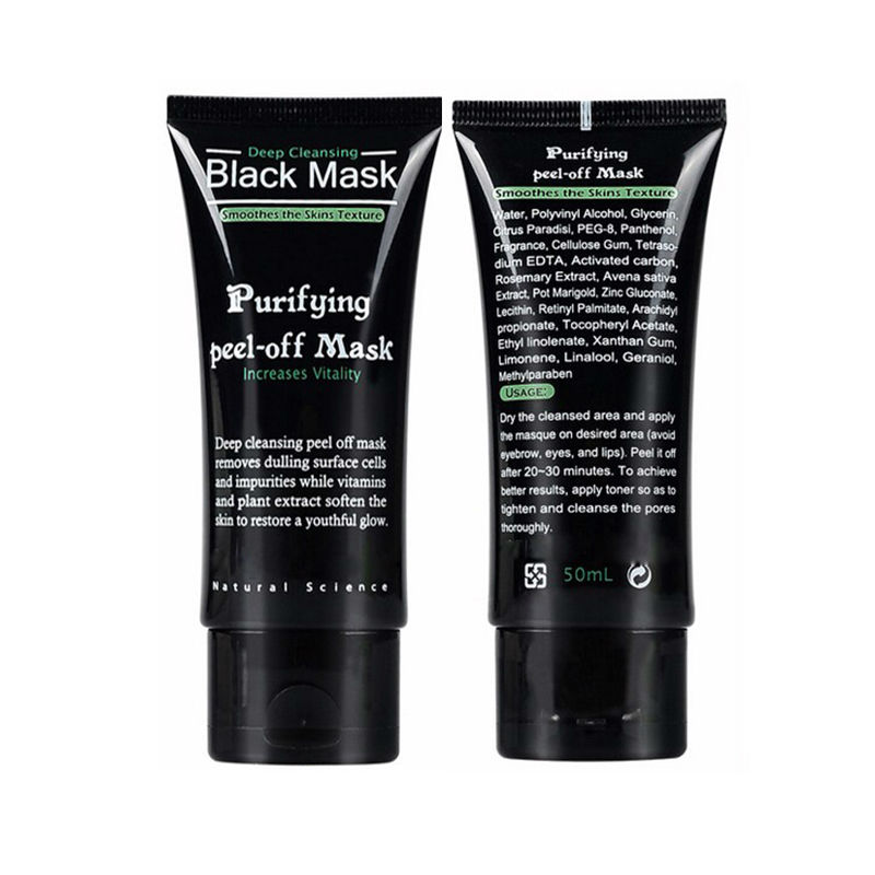 2016 Tearing Style Deep Cleansing purifying peel off Black mud Facial face black mask Remove blackhead facial mask black head