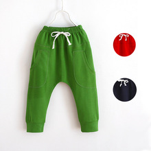Fashion spring autumn harem pants for boys girls children leisure pants kids cotton trousers children jogging pants baby clothes(China (Mainland))