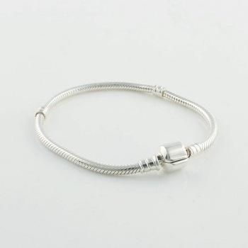 925-Sterling-Silver змея цепи клип стартер браслет DIY ювелирных Bracelets подходит европейский бренд DIY бусины