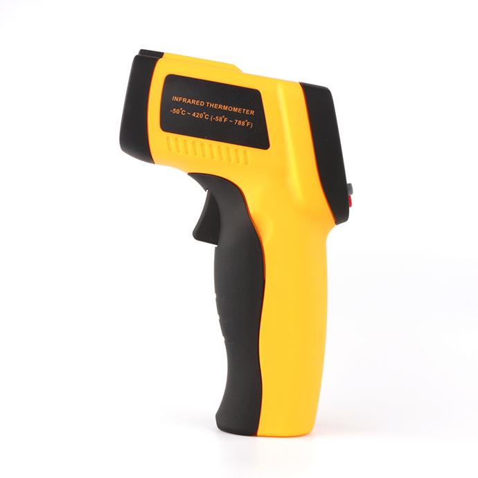 IR Infrared Digital Temperature Meter Gun Mini Thermometer GM300 Non-Contact 12:1 LCD Display 50~420C Emissivity 0.95 12:1(China (Mainland))